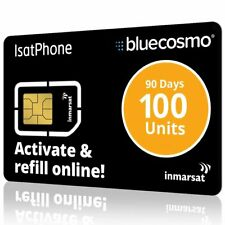 New Inmarsat IsatPhone 100 Unit Prepaid SIM Card for IsatPhone Pro Satelitephone