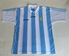 Argentina 1994 World Cup Home Football Jersey Adidas Shirt Size T4 L/XL Philips