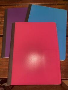 Lot Of 3 Composition Notebooks