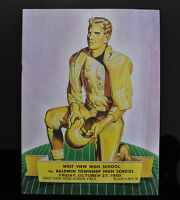 1950 West View High School Football Official Program Vintage Coca Cola RARE