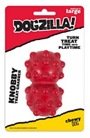 "Dogzilla strong dog toy large. Knobby Red Treat Grabber Dog Toy ( 3"" x 2"" x 2"")"