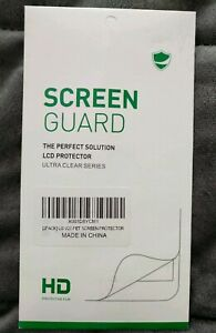 NEW SCREEN GUARD 2 PACK LCD PROTECTOR ULTRA CLEAR SERIES HD PET FOR LG V20