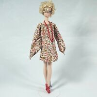 Vintage Barbie Clone / Handmade Dress Shoes Necklace Doll Fashion 60s 70s MOD