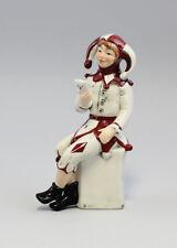 9942210 Porzellan Figur Eulenspiegel Narr rot Karneval Wagner & Apel H18cm