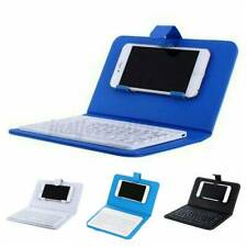 Wireless bluetooth Keyboard Case Leather Stand Cover for iPhone / Android Phone