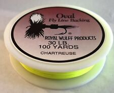 100 Yds ROYAL WULFF Oval Braid Fly Line Backing Dacron 30 Lb Test Chartreuse