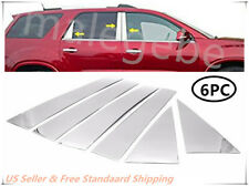 Fit 2007-2016 GMC Acadia 6PCS Stainless Steel Chrome Pillar Post Trim Cover