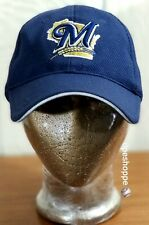 MLB Milwaukee Brewers Baseball New Era Authentic Hat Cap 3930 Sm- Med Preowned