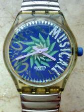 """orologio swatch MUSICALL modello """"TONE IN BLUE """"SLK 100 anno 1993 usato"""