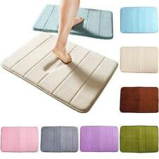 Microfibre Bath Mat Non Slip Rug Bathmat Toilet Shower Bathroom Rugs SL