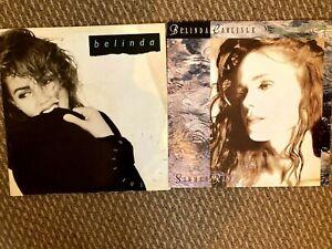 "Belinda Carlisle - Summer Rain + Circle in the Sand   X2 12"" Vinyl Singles"