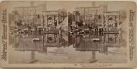 Roma Forum Riflessione Specchio Foto Stereo Vintage Albumina 1897