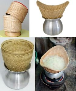 by Inspirepossible Thai Sticky Rice Steamer Basket Only