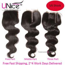 UNice Brazilian Body Wave Human Hair Lace Closure 10
