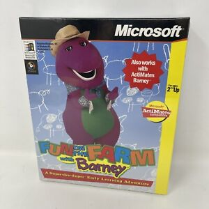Rare Microsoft Fun On The Barn With Barney Early Learning Adventure Brand New