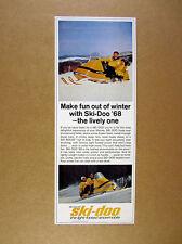 1968 Ski-Doo Super Olympique Snowmobile photo vintage print Ad