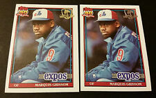 Marquis Grissom Expos 1991 Topps Desert Shield #283 Authentic AP15