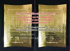 10YANT SHEET GOLD SUPER RICH THRONE WEALTH THAI AMULET TALISMAN GOODLUCK SUCCESS