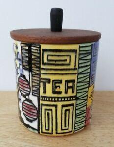 Vintage Scandinavian Jie Gantofta Tea Canister Jar Pot Anita Nylund Mid Century