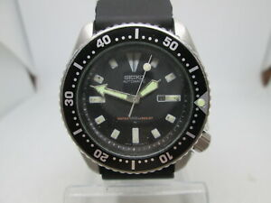 SEIKO 4205-015K STAINLESS STEEL AUTOMATIC MIDSIZE MENS DIVER WATCH