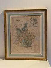 Superbe gravure XIXe carte des Ardennes par Malte-Brun Charleville Mézières