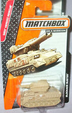 2014 Matchbox  On A Mission Tan Blockade Buster Tank 1-64 Diecast 4+ Boys & Girl