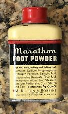Vintage Marathon Foot Powder Sample 2.25 Inch
