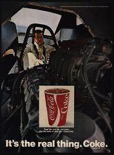 1970  COCA COLA Drag Race Car Driver - Funny Car - COKE - VINTAGE AD