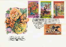 1991 Soviet FDC cover with FOUR STAMPS National holidays in four republics