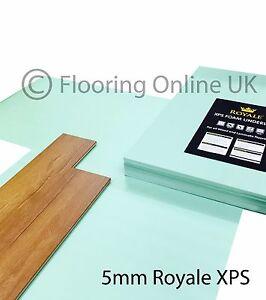 XPS Underlay- Laminate or Wood Flooring - 5mm - Like Fibreboard - Insulation