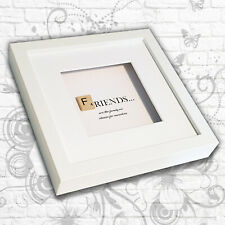 'Friends' inspirational quote Art Box Frame (Grey/White)- Mother/Sister/Daughter
