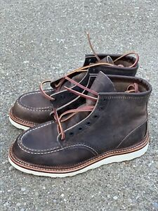 """Red Wing Heritage 6"""" Moc Toe Men's Work Boots 8 D Concrete Rough Leather 8883"""