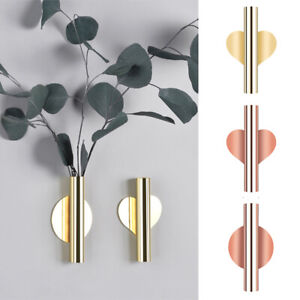 Wall Hanging Vase Nordic Style Golden Wall Flower Living Room Vase Home Decor