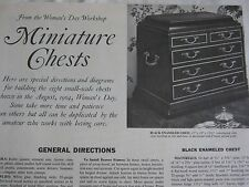 1960s Vintage Furniture Pattern MINIATURE WOOD CHESTS 6 DESIGNS by Woman's Day