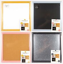New 4 Wall Tiles each 16 x 16 Dry Erase Magnetic Metal Chalk Cork board New