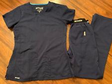 New listing Greys Anatomy Navy Scrub Set (sm/xs)