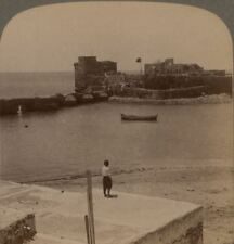 Palestine. Ancient Citadel in the Sea at Sidon, Syria (Acts XXVII: 1-4)