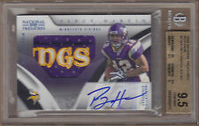 09 2009 National Treasures Percy Harvin LOGO Patch Auto RC /5 BGS 9.5 GEM MINT