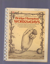BRIDGEHAMPTON WORKS AND DAYS by IMPROVEMENT SOC (LI NY/1974/SC SPIRAL/COOK BOOK)