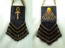 Aten's Disk and Ankh - Necklace with Gold Beads