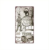 "1957 Bunny White Bread Halloween No Tricks Ad JOL Metal Sign 6x12"" A160"