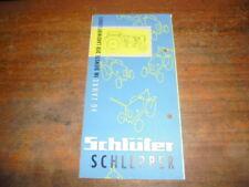 Prospekt Sales Brochure Schlüter Schlepper Trecker Landwirtschaft