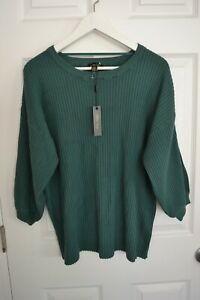 Melissa Paige Sweater Pullover Boho Top Green Viscose Blend Plus Size 1X