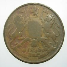 INDIA BRITISH 1/2 ANNA 1835 EAST INDIAN Co 84# MONEY COIN