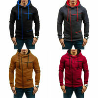 Outwear Men's Warm Hoodie Coat Jumper Winter Sweater Sweatshirt Jacket Hooded