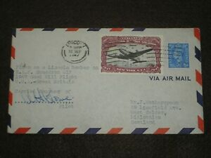 1947 AIR MAIL USA-GB GOOD WILL FLIGHT RAF Sq 617 PILOT SIGNED COVER CROWE DFC