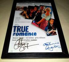 """True Romance Cast X2 PP Signed & Framed 12""""x8"""" Poster Christian Slater"""