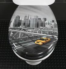 Toilet Seat New York Cab Novelty Toilet Seat Duroplast c/w Stainless Steel Hinge