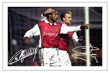 THIERRY HENRY & DENNIS BERGKAMP ARSENAL AUTOGRAPH SIGNED PHOTO PRINT SOCCER