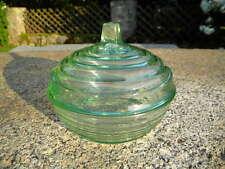 GRAF WÜRFEL REKLAME Glas DECKELDOSE Suppenwürfel Werbung Pressglas grün Maggi